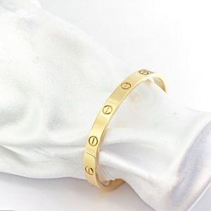 Auth Cartier Love Bracelet 18KT Yellow Gold #19